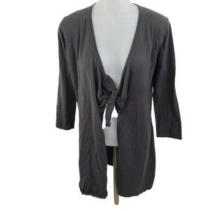 Cabi Cardigan S Gray Knot Tie Front 3/4 Sleeve 706